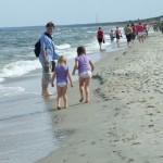 spacer po plaży w Krynicy